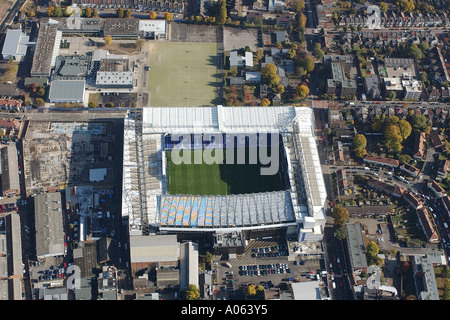 Aerial view of Tottenham Hotspur Football Club in London. It is also called White Hart Lane and is home to Spurs - Stockfoto