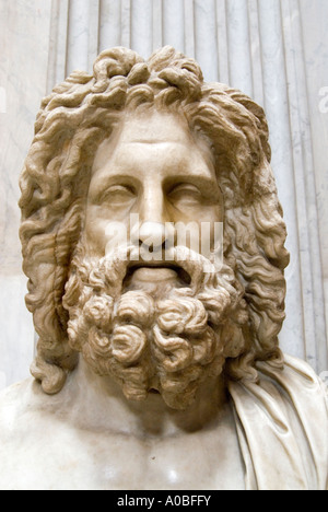 Bust of a bearded man in the Vatican Museum Rome Italy - Stockfoto