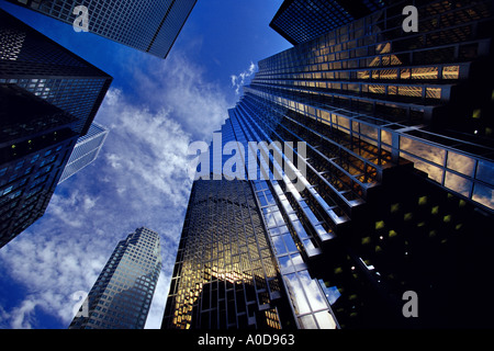 High rise office buildings Toronto Canada - Stock Photo