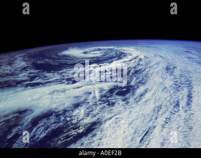 Hurricane Xina from space - Stock Photo