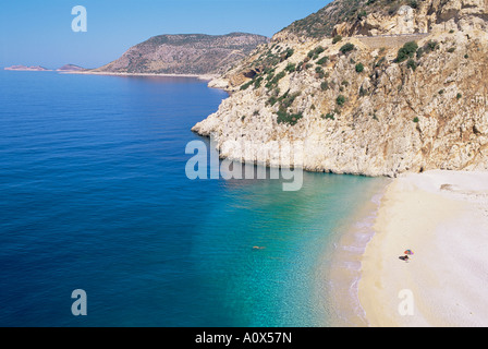 Kaputas Beach Lycia Anatolia Turkey Asia Minor Asia - Stock Photo