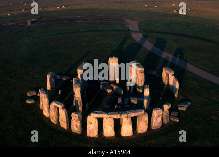 Aerial view of Stonehenge Wiltshire England UK A Woolfitt - Stock Photo