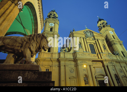 Theatinerkirche, Munich, Germany - Stock Photo