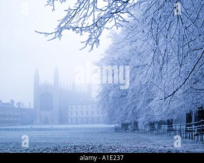 Kings College and Chapel, Cambridge, England - Stock Photo