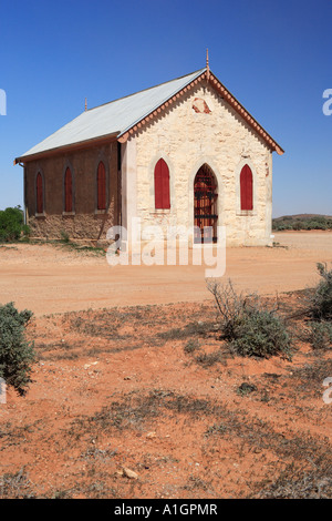 Historic Methodist Church built in 1885 Silverton near Broken Hill New South Wales Australia - Stock Photo