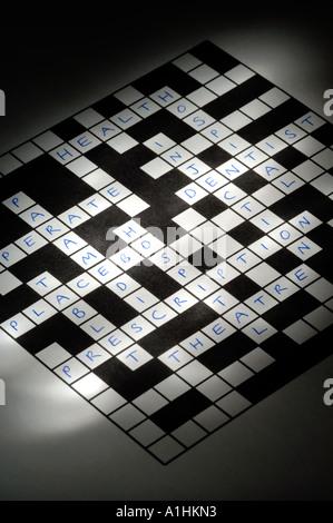 Medical crossword - Stock Photo