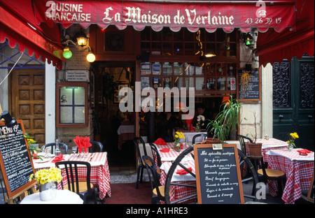 Famous french restaurant Verlaine at Paris - Stock Photo