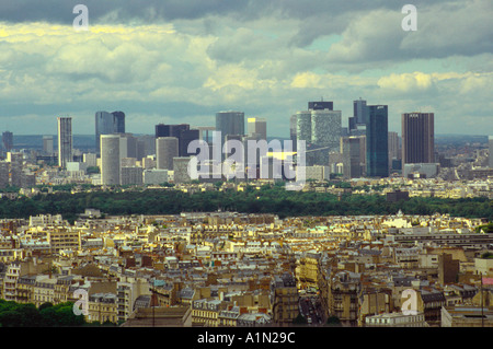 Paris Skyline from Eiffel Tower - France - Stock Photo