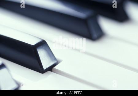 Piano keyboard, close-up - Stockfoto