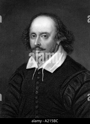 William Shakespeare 1564 1616 Engraved by E Scriven Source The Imperial Dictionary of Universal Biography From a - Stock Photo