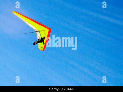 Hand Gliding over Sleepy Bear Sand Dunes - Stock Photo