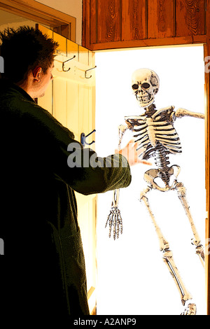 Skeleton in the cupboard - Stock Photo