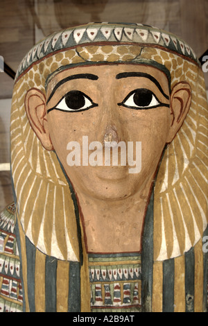 A statue in the Egyptian Museum, Turin, Italy - Stock Photo