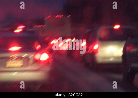 Cars In Traffic USA - Stock Photo