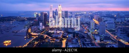 Asia Singapore , skyline panorama, Singapur - Stock Photo