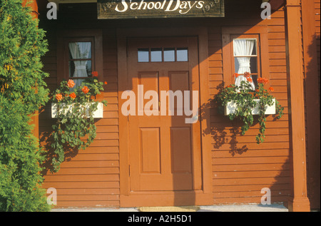 Red Entry Door Amp Charming Front Porch With White Wood