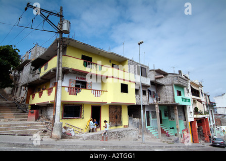 Typical  houses in the area of Cerro Santa Ana - Stock Photo