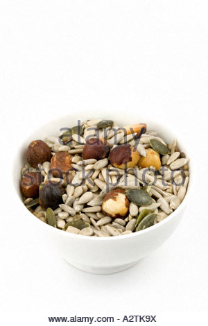 Candida mix. Mixture of sunflower seeds, pumpkin seeds, hemp seeds and hazelnuts - ideal for those suffering from - Stockfoto