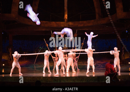 Cirque Du Soleil performing Alegria at the Royal Albert Hall London - Stock Photo