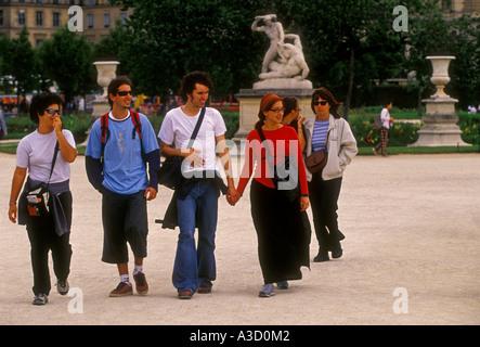 Frenchwomen French People Women Females Walking Along Street In The Stock Photo 32437646 Alamy