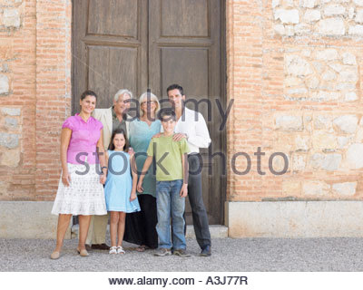 Three generation family - Stock Photo