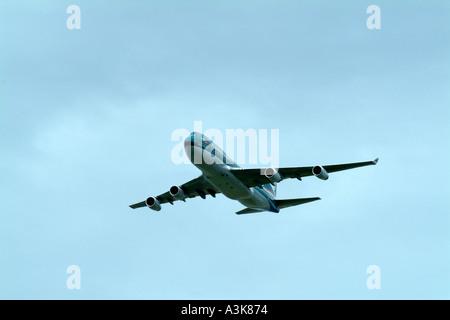 Cathay Pacific Airways 747 400 Jumbo four engined passenger jet - Stock Photo