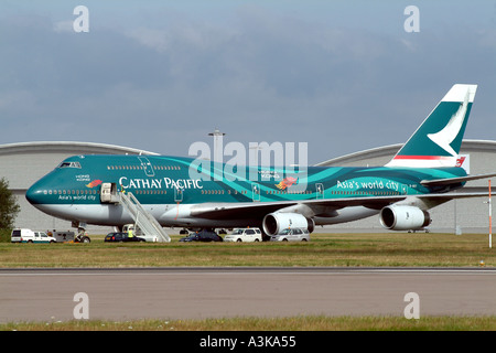 Boeing 747 400 of Cathay Pacific Airways - Stock Photo