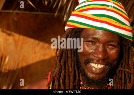 Rastafarian Negril Jamaica - Stock Photo