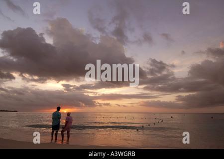 Sunset Negril Jamaica - Stock Photo