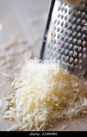 grated cheese close up - Stock Photo