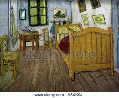 'fine arts, Gogh, Vincent van (1853 - 1890), 'Vincentœs Room, Arles', 1988, painting, Vincent Van Gogh Foundation, - Stockfoto