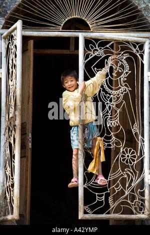 Wat Tham Xieng Maen inside Tham Sakkarin Savannakuha Cave Luang Prabang Laos - Stock Photo