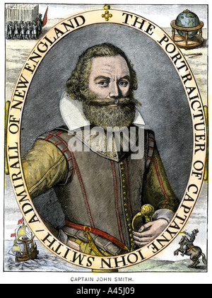 Captain John Smith colonist of Jamestown - Stock Photo