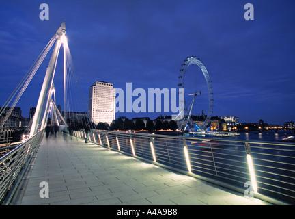 Hungerford Bridge, London, England - Stock Photo
