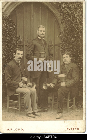 Hand bell ringers circa 1900 - Stock Photo