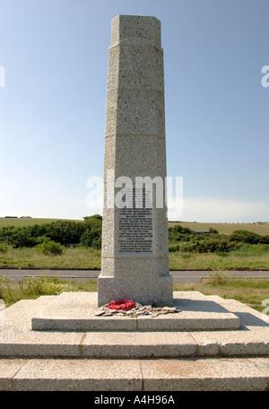 World War 2 Memorial Slapton Sands Devon England CREDIT LIGHTWORKS MEDIA ALAMY - Stock Photo