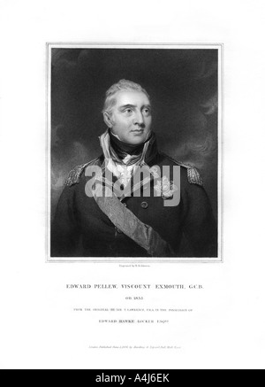 Edward Pellew 1st Viscount Exmouth British naval officer 1834  - Stock Photo
