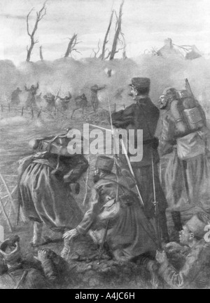 A Chlorine Gas Attack Second Battle of Ypres Belgium 1915 1926  - Stock Photo