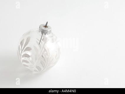 Glass Christmas tree decoration - Stock Photo