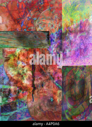 SECRETS OF UNIVERSE TWO is original digital art that will make viewer think it is profound  - Stock Photo