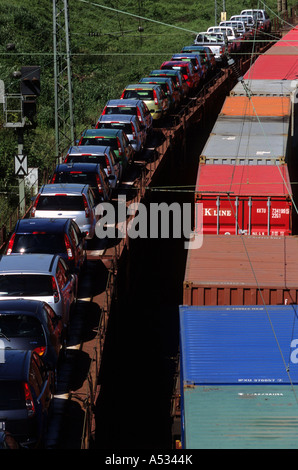 Container Freight Train On West Coast Main Line At
