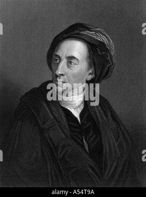 ALEXANDER POPE English poet 1688 1744 - Stock Photo