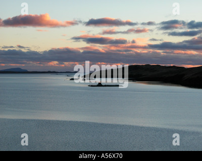 Sandsound voe Shetland Scotland - Stock Photo