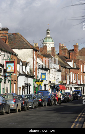 View along Old Street, Upton Upon Severn, Worcestershire, UK. - Stockfoto