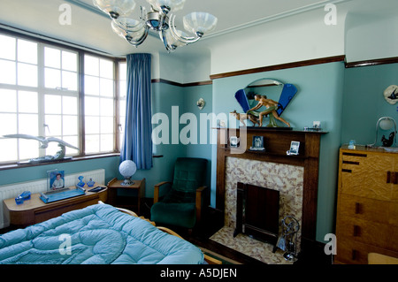 Refurbished art deco 1930 s house interior lounge living room stock photo royalty free image - Deco lounge blue duck ...