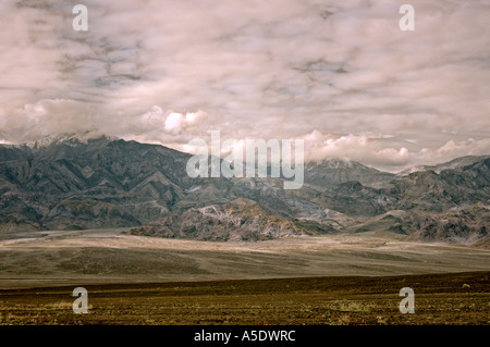 Storm Clouds over Death Valley National Park California USA - Stock Photo