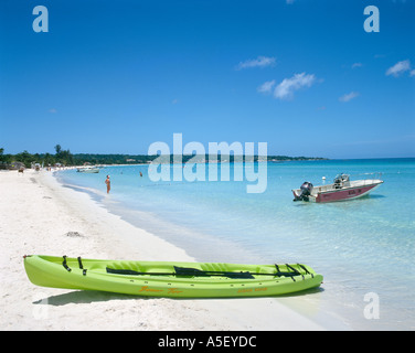 Seven Mile Beach, Long Bay, Negril, Jamaica, Caribbean - Stock Photo