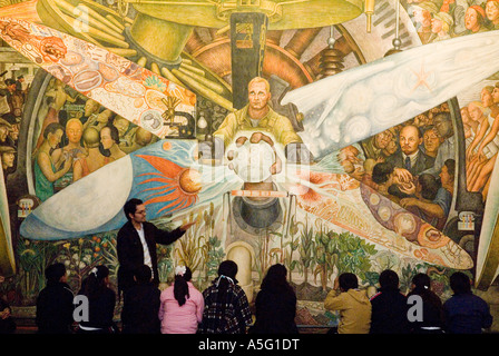Diego rivera mural at the bellas artes museum mexico city for Diego rivera mural at rockefeller center