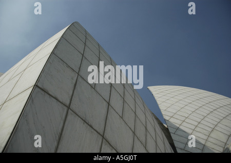 Bahai House of Worship, detail, India, Delhi - Stock Photo