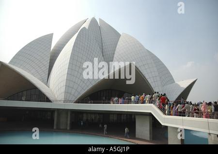 Bahai House of Worship, India, Delhi - Stock Photo
